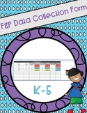F&P Reading Level Data Collection Forms K-5