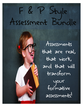 F & P Style Formative Assessments- Reading Comprehension Bundle