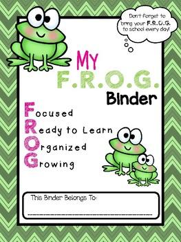 F.R.O.G. Folder Binder Cover