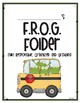 F.R.O.G. Take Home Folder Cover Page and Letter