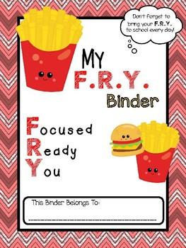 F.R.Y. Folder Binder Cover