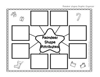 Reindeer Attributes Graphic Organizer- INB Activity