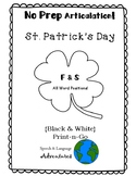F & S Articulation St. Patrick's Day - NO PREP [BW]