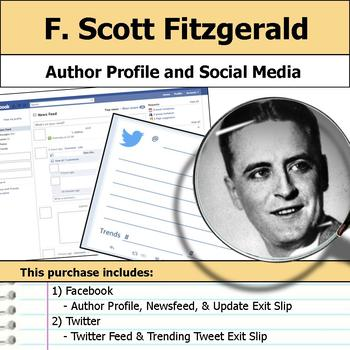 F. Scott Fitzgerald - Author Study - Profile and Social Media