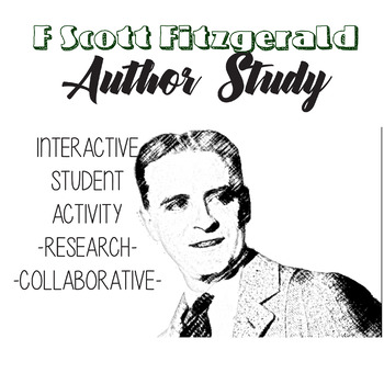 F Scott Fitzgerald Author Study, The Great Gatsby Author Bio