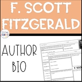 F Scott Fitzgerald Author Study Worksheet Biography Activity