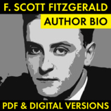 F. Scott Fitzgerald Author Study Worksheet, Easy Biography