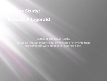 F. Scott Fitzgerald Bio PowerPoint