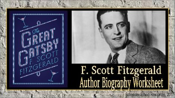 F. Scott Fitzgerald Biography Assignment/ Graphic Organizer