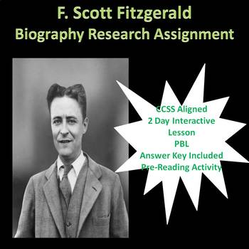 F. Scott Fitzgerald Biography Research Lesson