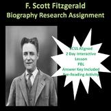 F. Scott Fitzgerald Biography Research Lesson