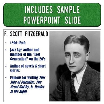 F. Scott Fitzgerald Magic Portrait Video & PowerPoint for Author Study