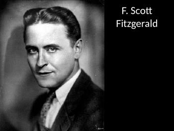 F. Scott Fitzgerald Pictures PowerPoint