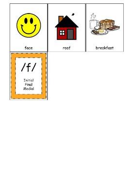 F Sound Articulation Cards