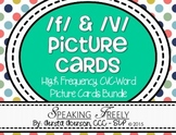 F & V Articulation High-Frequency CVC Word Picture Cards Bundle