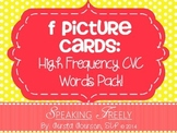 F Articulation Word Cards: High Frequency CVC Picture Word