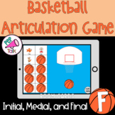 F Words Initial Medial Final Basketball Articulation Game