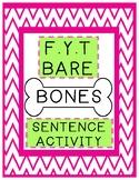 F.Y.T Barebones Sentence Activity