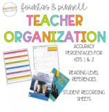 F and P Assessment Organizers