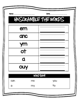 F and P First 25 Sight Word Practice Book 3