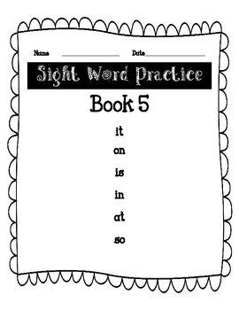 F and P First 25 Sight Word Practice Book 5