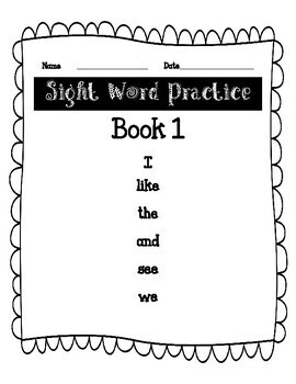 F and P First 25 Sight Word Practice Books 1-7