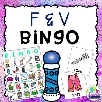 F and V Articulation BINGO Activity