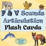 F and V Articulation Flash Cards
