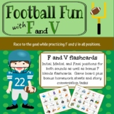F and V Articulation Football Fun for Speech Therapy