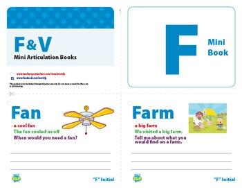 Articulation Mini Books: F and V Sounds