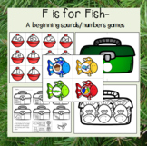 F is For Fish- A beginning sounds and numbers game