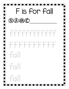 F is for Fall