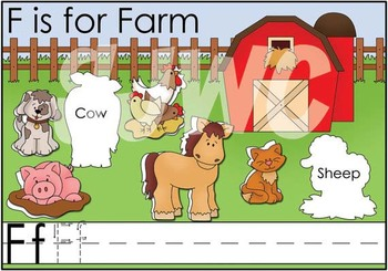 F is for Farm File Folder Game