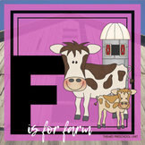 F is for Farm Themed Unit-Preschool Lesson Plans and Activities (one week)
