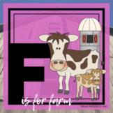 F is for Farm Themed Unit-Preschool Lesson Plans  - Distan
