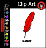 F is for Feather Clip Art for Commercial and Classroom Use ~ Free