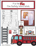 "Fire Safety Activities: ""F is for Fire!"" Fire Safety Word"