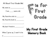 F is for First Grade, Memory Book