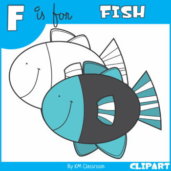 F is for Fish Clip Art