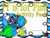 Letter of the Week - F is for Fish Preschool Kindergarten Alphabet Pack