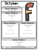 F is for Flag - Editable Newsletter Template - #60CentFind