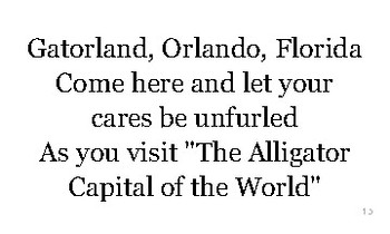 F is for Florida flash cards