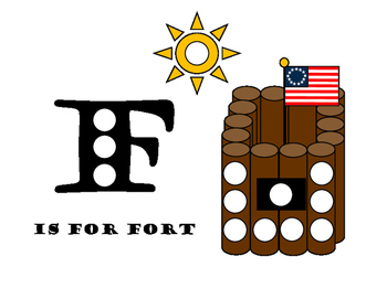 F is for Fort pom pom mat