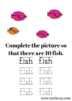 F is for fish printables for preschool through pre - K