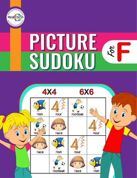 Articulation Game for Speech Therapy (F sound): Picture Sudoku Puzzle