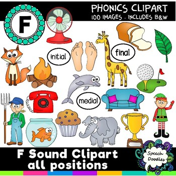 F sound clipart - over 100 images! Articulation Clipart Phonetic Clipart