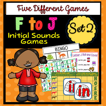 F to J Initial Sounds - Five DIfferent Games