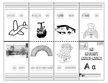 Livrets Mini-mini accompagne la trousse ABC+J'apprends une lettre Immersion  F19