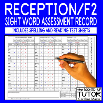 {sight word TESTING} {sight words ASSESSMENT} {reading assessment}