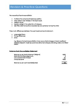 F3 ACCA Bank Reconciliation Process Chapter 15 Exam Prep